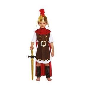 Henbrandt KINDEREN JONGENS 4-Delig Romeinse Gladiator / Romeinse Generaal, bestaande uit: Harnas, Riem, Cape en Beenbeschermers | Romeinse Gladiator | Carnavalskleding | Verkleedkleding | Jongen | Maat: L 10-12 Jaar