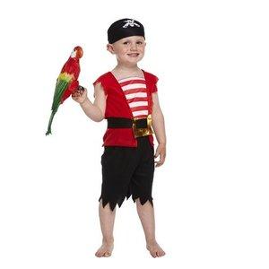 Henbrandt KINDEREN PEUTERS JONGENS 4-Delig Piraten kostuum voor kinderen van 3 jaar | Carnavalskleding | Verkleedkleding / Feest Kostuum Piraat | Jongens | Maat: ONE SIZE 3 Jaar