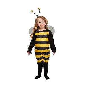 Henbrandt KINDEREN PEUTERS  2-delig  Schattig Bijen Kostuum, bestaande uit: Streepjespak met Vleugels en Tiara| BUMBLEBEE BIJ Kostuum | Kleur :Geel en Zwart | Carnavalskleding | Verkleedkleding | Bijen kostuum | peuters | Maat: ONE SIZE  3 jaar