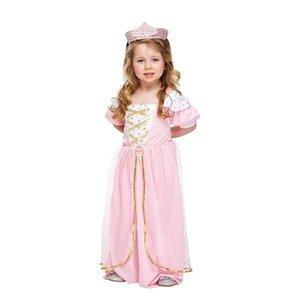 Henbrandt KINDEREN PEUTERS  2-Delig Prinsessen kostuum voor meisje van 3 jaar| Bestaande uit: een Prinsessen Jurk en een Tiara | Kleur : Roze / Wit en Goud | Carnavalskleding | Verkleedkleding / Feest Kostuum Prinses | Meisjes | Maat: ONE SIZE van 3 jaar
