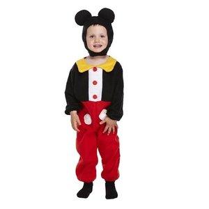 Henbrandt KINDEREN PEUTERS 2-Delig schattig Mickey Mouse kostuum, Jongens van 3 jaar | Bestaande uit: een Mickey Mouse compleet Bodysuit, Muts met Mickey Mouse oren | Carnavalskleding | Verkleedkleding / Feest Kostuum Mickey |Maat: ONE SIZE van 3 jaar