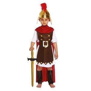 Henbrandt KINDEREN JONGENS 4-Delig Romeinse Gladiator / Romeinse Generaal, bestaande uit: Harnas, Riem, Cape en Beenbeschermers | Romeinse Gladiator | Carnavalskleding | Verkleedkleding | Jongen | Maat: Small 4-6 Jaar