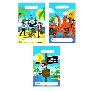 Huismerk 144 STUKS | Trakteerzakjes Model PIRATEN | Traktatie Uitdeelzakjes | Snoepzakjes | Traktatie Verjaardags Plastic Zakje | Afm.  23 x 15 cm  | Jongens & Meisjes | Afm. 18x14x9.5 Cm. (144 stuks)