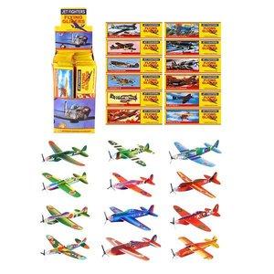 Huismerk 48 STUKS | Uitdeelcadeautjes - Fighter Gliders - Model: Foam Vliegtuigen in Display (48 stuks)
