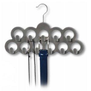 Kesper Riemenhanger voor 11 Riemen   Accessoire hanger   Riemen ophangen   Voorzien van 11 ophanghaken   Kleur: GRIJS