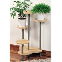 Kesper 100% FSC Houten Plantenrek met 4 Etages | Planten Potten Houder voor 4 Planten | Afm. 64,5 x 46 x 72,5 cm | Kleur: HOUT LICHT BRUIN