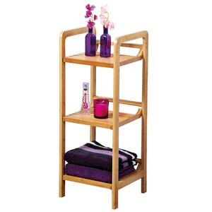 Kesper Badkamerkast FSC Bamboe met 3 Planken | Open opbergkast met 3 planken | Badkamer Opberg Rek | Kast meubel | Stellingkast | Afm. 70 x 30 x 30 Cm. | Kleur: Bamboe