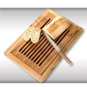 Kesper FSC Acacia Houten Broodsnijplank + Kruimelvanger | Broodplank hout met Brood Kruimel opvangbak | Brood snijplank met rooster | Snijplank voor brood | Afm. 47,5 x 32 x 2 Cm.