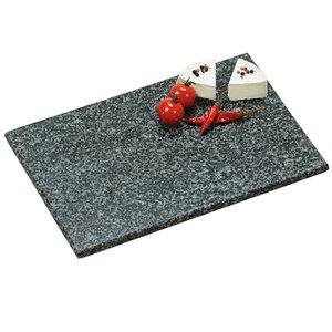 Kesper Granieten Snijplank   Solide Stenen Snijplank   Snij plank van Steen   Materiaal: Graniet    Afm. 30 x 20 x 1,5 cm   Kleur: ZWART