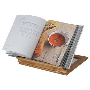 Kesper Kookboek Standaard van FSC® Bamboe, verstelbaar in 3 standen | Keuken Boekenstandaard | Kook Boek Standaard | Keuken Boek standaard | Kookboek standaard | Ipad Houder voor in de Keuken | Afm. 33 x 26,5 x 2 Cm. | Kleur: Bamboe