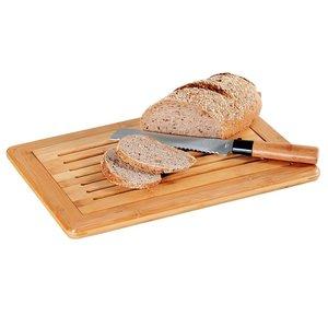 Kesper FSC® Bamboe Houten Broodsnijplank + Kruimelvanger   Broodplank hout met Brood Kruimel opvangbak   Brood snijplank met rooster   Snijplank voor brood   Afm. 42 x 28 x 2 Cm.