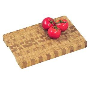 Kesper Professionele FSC® Houten Bamboe Snijplank, met verzonken handgrepen   Dikke snij plank   Afm. 36 x 24 x 3 Cm.   Pro Snijplank