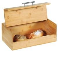 Kesper FSC® Houten Broodtrommel met Optil deksel | BAMBOE | Brood trommel | Brooddoos voor opbergen van broodjes | Afm. 36 x 20 x 14 Cm.