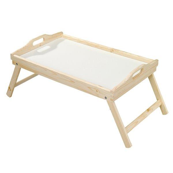 Grenenhouten Side Table.Fsc Houten Grenenhouten Bedtafel Inklapbaar Schoottafel Bedtafeltje Serveertafel Tafeltje Voor Ontbijt Op Bed Bed Dienblad Afm 50 X