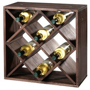 Kesper FSC® Houten Wijnflessen legbordsysteem voor 20 wijn flessen | Wijnrek | Flessenrek | Wijn rek | Materiaal: Grenen Hout | Afm. 50 x 50 x 25 Cm.