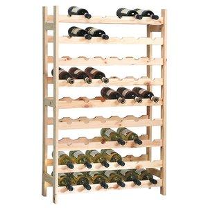 Kesper XXL Groot FSC® Grenenhouten Wijnrek voor 54 Wijn flessen | 9 Laags Stapelbaar Staand Houten Wijn Rek | Flessen Houder | Wijnrek voor 54 flessen | Afm. 120 x 63 x 27 Cm.