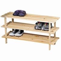 Kesper FSC® Dennenhouten Schoenenrek, 3 Verdiepingen voor 9 Paar Schoenen | Schoenenkast | Schoenen Rek | Afm. 77 x 40 x 26 Cm. | Kleur: natuurlijk Dennenbruin