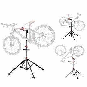 Songmics Fiets Montagestandaard voor Professionals | 360°  Draaibaar Montagestandaard met magnetische gereedschapsbakje | In hoogte verstelbaar van 102 tot 172 Cm. | Lichtgewicht Reparatiestandaard voor fietsen, Mtb's, Racefietsen etc | Eenvoudig mee te nemen