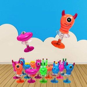 Decopatent 24 STUKS | Jump Up Monsters | Mix Gekleurde Omhoog Springende Monsters | Leuke Traktatie / Uitdeelcadeautjes voor jongens en Meisjes