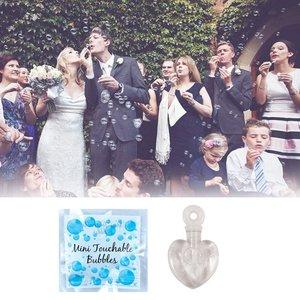 Huismerk 48 STUKS | Bruiloft / Trouwerij Bellenblaas in hart vorm  | Huwelijk mini Bellenblaas | Bellenblaas voor Bruiloft & Wedding