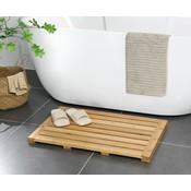 Decopatent Bamboe badmat voor douche of bad - Houten douchemat / badkamermat / saunamat - Decopatent®