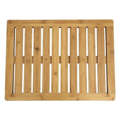 Decopatent Grote bamboe badmat voor douche of bad - Houten douchemat / badkamermat / saunamat - Decopatent®