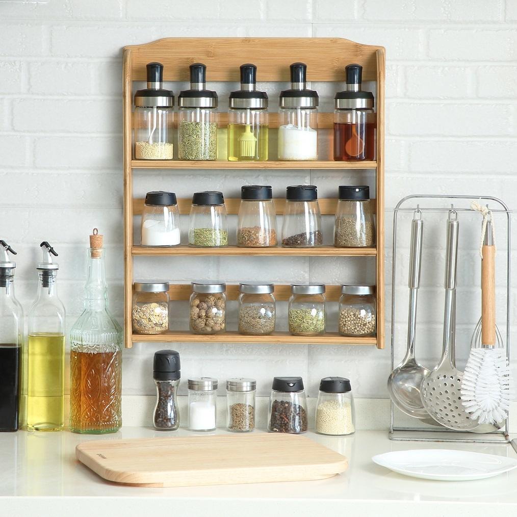 Decopatent Ophangbaar Kruidenrek Voor 15 Kruidenpotjes Keukenrek