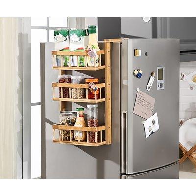 Decopatent Multifunctioneel opbergrek - Staand & hangend te gebruiken - Als keukenrek / badkamerrek - Hangend aan (koel)kast of staand op vloer - Decopatent®