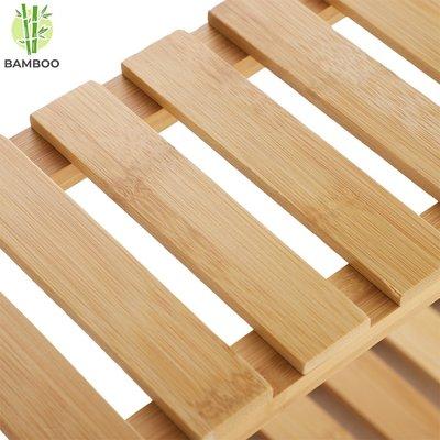 Decopatent Bamboe wandplank met 3 verstelbare etages - Hangend houten wandrek - O.a. voor de badkamer - 54 x 15 x 60 cm (L x B x H) - Decopatent®