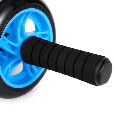 Decopatent AB Roller - Trainingswiel voor buikspieren – Buikspiertrainer / buikspierwiel - Luxe uitvoering met mat, foam handvatten en stabiel buikspier wiel - Decopatent®