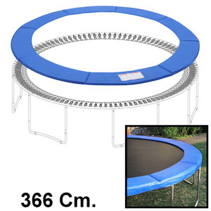 Decopatent Trampolinerand 366 cm diameter – Rond - Hoge kwaliteit beschermrand - Blauw - Trampoline rand afdekking universeel - Decopatent®