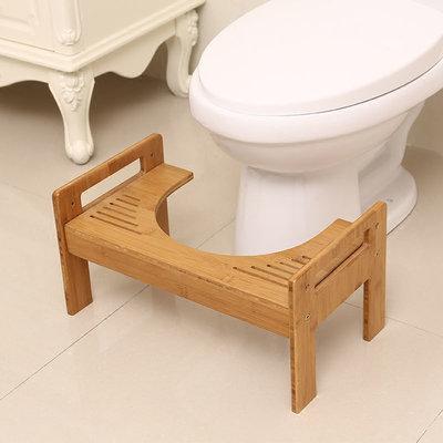 Decopatent Bamboe Toiletkrukje - WC krukje - Voor de juiste zit houding op het toilet - Soepelere stoelgang op het toilet door een natuurlijke hurkhouding - Helpt bij aambeien, obstipatie, opgeblazen gevoel en andere darmklachten - Decopatent®