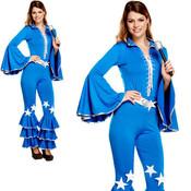 Henbrandt VOLWASSENEN DAMES Disco Kostuum | Groovy 70s Diva Disco Kostuum | Disco Girl | Woman Disco Kostuum | Carnavalskleding | Verkleedkleding / Feest Kostuum | Vrouw | ONE SIZE FITTS ALL