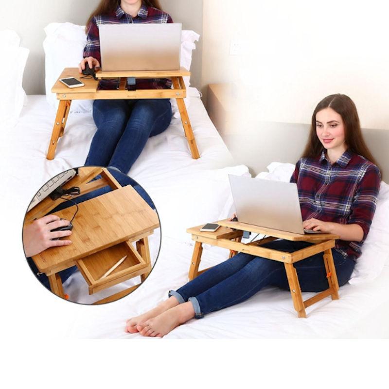 Verwonderend Decopatent   Laptoptafel voor op bed of op de bank van bamboe hout VJ-43