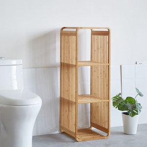 Decopatent Bamboe vakken kastje - badkamerkast - vakkenkast - schoenenkast - kubuskast - 3 Kubus Bamboe vakken kastje - badkamerkast - vakkenkast - schoenenkast - kubuskast - 4 Laags - Decopatent®