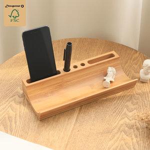 Decopatent Pennenbakje - Tevens geschikt voor het opbergen van Telefoon - bamboe hout pennenbak - bureau organizer - Decopatent®