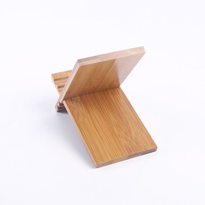 Decopatent Universele telefoonhouder / tablethouder -  telefoon houder van bamboe hout - tablet / iPad houder - standaard voor gsm - Decopatent®