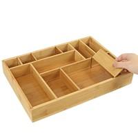 Decopatent Bamboe bestekbak voor keukenla – Bestek organizer van hoogwaardig bamboe hout – Bestekcassette van Decopatent