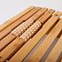 Decopatent Voetmassage Roller bank bamboe hout - Ontspannende Voet massage door de voetmassageroller - Reflexologie - Voetroller voor voetmassage - Voor op de grond of onder bureau - Decopatent®