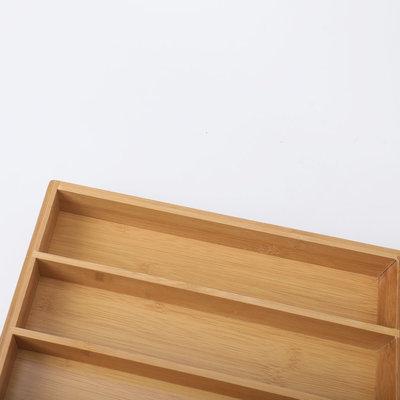 Decopatent Bamboe bestekbak voor keukenla - Bestek organizer van hoogwaardig bamboe hout - Bestekcassette van Decopatent®