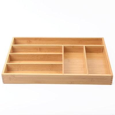 Decopatent Bamboe bestekbak voor keukenla - 6 Vaks - Bestek organizer van hoogwaardig bamboe hout - Bestekcassette van Decopatent®