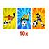 Decopatent 10 STUKS | LUXE VOETBAL Traktatie Tas INCLUSIEF Uitdeel Kado's. Bestaande uit: Tasje, Krijtjes, Notitieblok, Flipperspel, Puzzel, Stickervel en Bellenblaas | Jongens | Tractatiedozen voor Verjaardagen en Kinderfeestjes