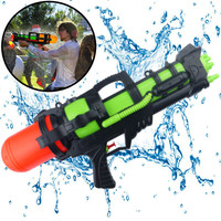 Decopatent XL Waterpistool - Super soaker waterpistool voor jongens - Jumbo waterkanon - Dubbel Shots supersoaker water pistool voor kinderen - Waterspeelgoed Watergeweer - Water gun met groot water reservoir - Decopatent®
