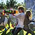 Decopatent XL Waterpistool - Super soaker waterpistool voor jongens - Jumbo waterkanon - Dubbel Shots supersoaker water pistool voor kinderen - Waterspeelgoed Watergeweer - Water gun met groot water reservoir - Decopatent®