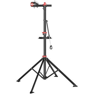 Decopatent Fiets Montagestandaard - 360° draaibaar - In Hoogte verstelbaar + Gereedschapsbakje & Stuurhouder - Fietsstaander / Ophangsysteem - Fiets montage reparatie standaard - Voor Racefiets, Mtb, Mountainbike, Fietsen - Montage standaard Fiets - Decopatent®