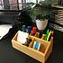 Decopatent Pennenbakje van bamboe hout – Professionele kwaliteit – Bakje voor pennen, potloden en scharen – Bureau organizer met pennenhouder - Decopatent
