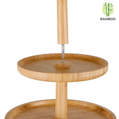 Decopatent Etagère 3 laags - Hoge kwaliteit Bamboe hout - Houten hapjesschaal / serveerschaal / etagere - Decopatent®