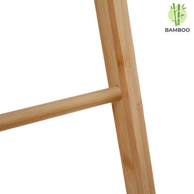 Decopatent Vrijstaand handdoekenrek voor badkamer - Staand handdoekrek van bamboe hout - Handdoek droogrek met 4 armen - Handdoek rek - Handdoekenhouder - Decopatent®