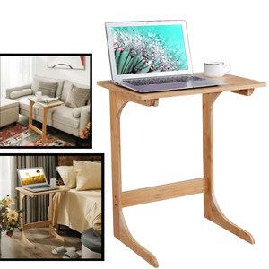 Decopatent Bedtafeltje / bijzettafel / laptoptafel van bamboe hout - Voor laptop - Klein bureautje voor woonkamer en slaapkamer - Decopatent®