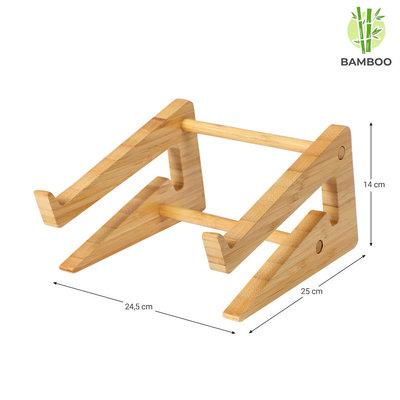 Decopatent Laptop standaard van Bamboe hout - Houten laptopstandaard - Ergonomische werkplek voor Laptops en Tablets - Notebook - Laptop verhoger / verhoging voor bureau - Decopatent®